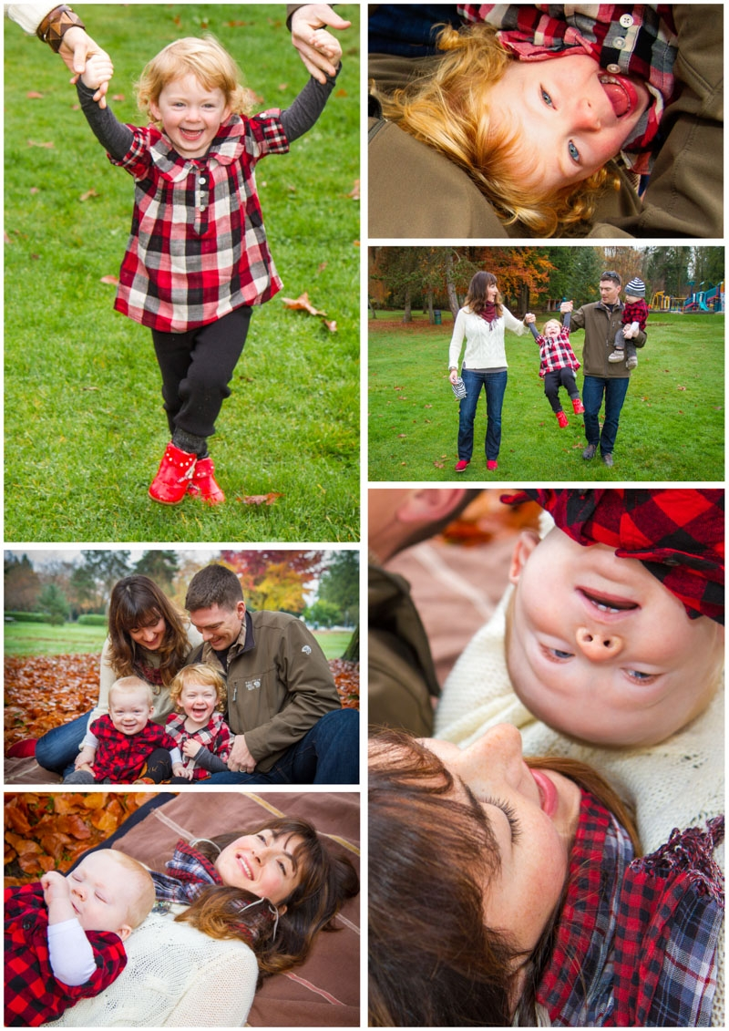 outdoor family photography collage